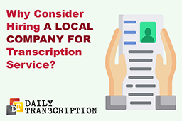 local transcription company